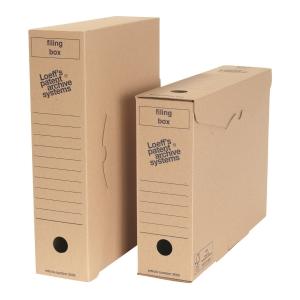 Loeff s Patent boîtes d archives Folio carton ondulé 25,5x34,5x8 - paquet de 50