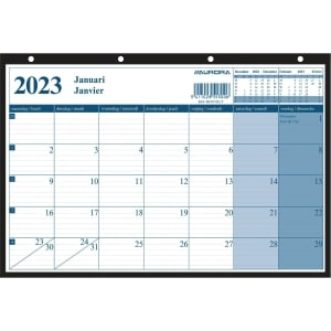 Aurora Monthly Planning mensuel 21x29,7cm