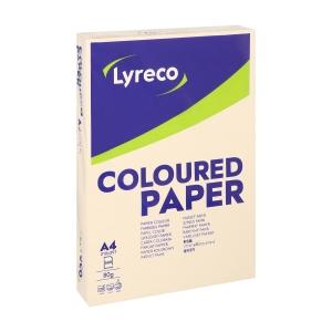 Lyreco papier couleur A4 80g ivoire - ramette de 500 feuilles