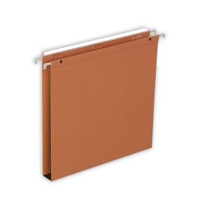 Lyreco dossiers suspendus pour tiroirs 30mm 330/250 orange - boîte de 25