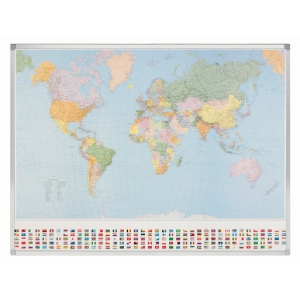 Legamaster Kümmerly & Frey carte mondiale politique 142x98 cm