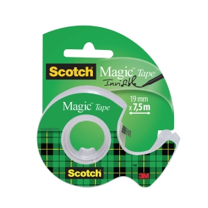 Scotch Magic 810 ruban adhésif invisible 19mmx7,5 m avec dévidoir