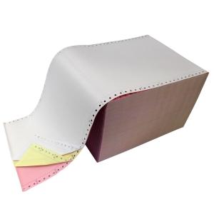 Papier listing blanc/jaune/rose 240x12 60g - boite de 750 feuilles
