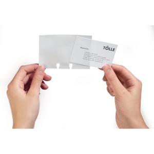 Durable pochettes supplémentaires pour porte-cartes de visite - paquet de 40