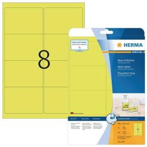 Herma 5144 étiquettes fluorescentes 99,1x67,7mm jaune - boite de 160