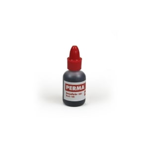Encre timbre permanent flacon 20 ml rouge