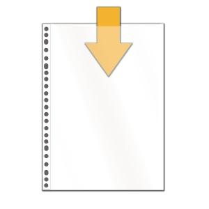 Multo 7348010 pochettes perforées classiques 14/100e PP cristallin- paquet de 10