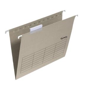 Lyreco dossiers suspendus pour tiroirs folio fond V kraft - boîte de 25