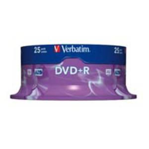 Verbatim DVD+R 4.7GB vitesse 1-16x cloche - paquet de 25