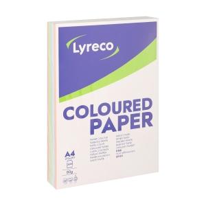 Lyreco papier couleur A4 80g pastel assortiment - ramette de 500 feuilles