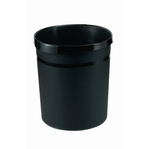 Han corbeille plastique 18l noir