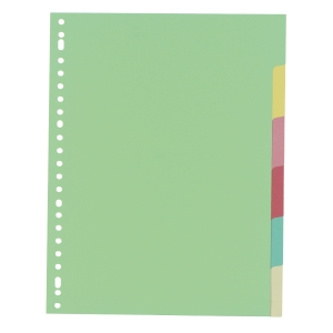 IndX neutral dividers 6 tabs cardboard 23-holes