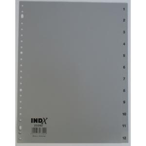 IndX intercalaires numériques 12 touches PP 23 trous