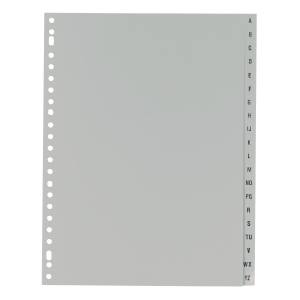 IndX alphabetical dividers PP 23-holes