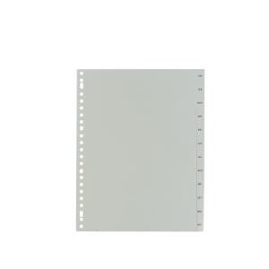 IndX intercalaires mensuels version neerlandaise PP grijs 23 trous