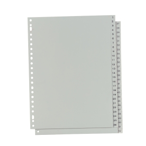 IndX numerical dividers 52 tabs PP 23-holes