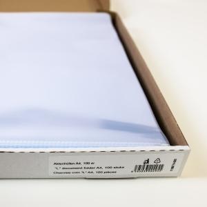 Lyreco pochettes coins A4 PP 11/100e cristallines - boîte de 100