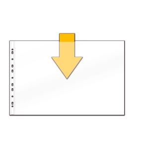 Pochettes perforées Paysage A3 8/100e PP - paquet de 10