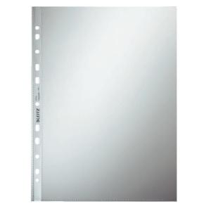 Leitz 4710 pochettes perforées classiques 12/100e PP grainées - boîte de 100
