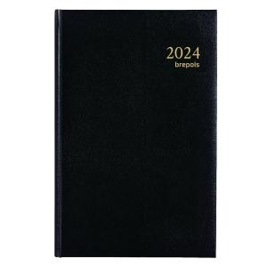 Brepols Saturnus 221 agenda de bureau couverture Lima noire