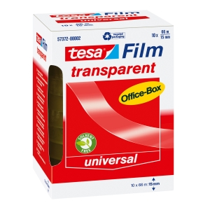 Tesa Office film ruban adhésif transparent 15 mx66mm