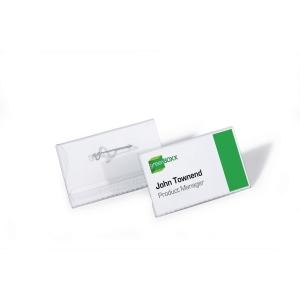 Durable 8608 badge avec épingle 75x40mm - paquet de 10