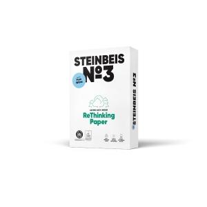 Steinbeis Pure White papier recyclé A3 80g-1 boite = 5 ramettes de 500 feuilles