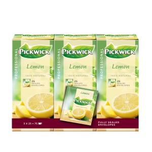 Pickwick sachet thé Citron - paquet de 3 x 25