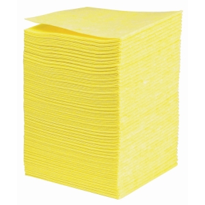 Chiffons non-tissé 38x40cm jaune - paquet de 50