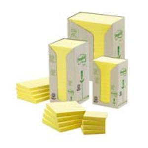 Post-it 653YRT notes recyclées 38x51mm jaune pastel - paquet de 24