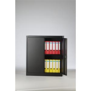 Bisley armoire à portes tournantes avec 1 tablette 91,4x100x40cm noire
