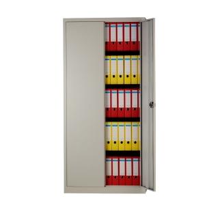 Bisley armoire à portes tournantes avec 4 tablettes 91,4x195x40cm grise