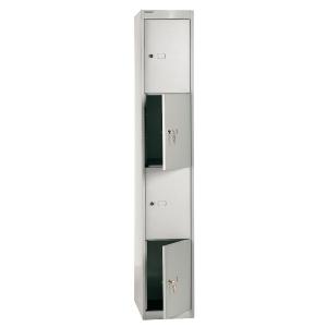 Bisley vestiaire avec 4 compartiments 30,5x180,2x45,7cm gris clair