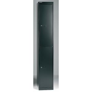 Bisley vestiaire avec 2 compartiments 30,5x180,2x45,7cm noir