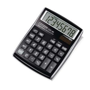 Citizen CDC80 calculatrice de bureau compacte noire - 8 chiffres