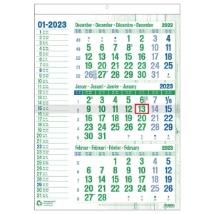 Green Collection calendrier 3 mois 30 x 43 cm