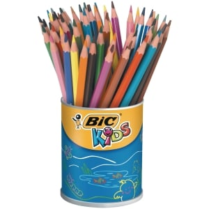 Bic Kids Evolution crayons couleur assorti - le pot de 60