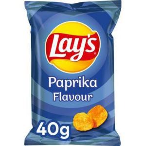 Lays chips paprika 40g - carton de 20