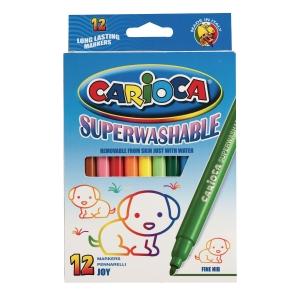 Carioca Joy Superwash feutres fine assorti - le paquet de 12