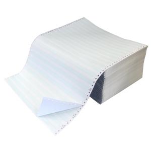 Papier listing 2 plis 380x11 50g zoné vert - boite de 1000 feuilles