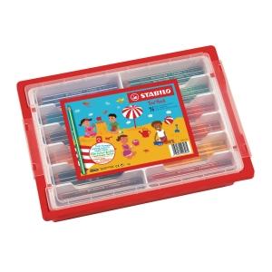 Stabilo Trio crayon couleurs assorties - le paquet de classe de 96