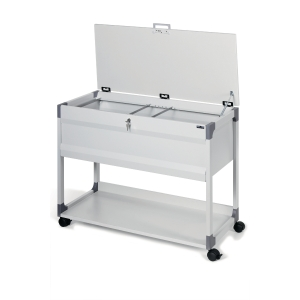 Durable trolley for 100 suspension files 74 x 88,5 x 44 cm