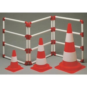 Cône de circulation réfléchissant classe 2 hauteur 30 cm orange/blanc