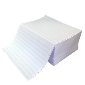 Papier listing 380x11 60g bandes non détach. zoné vert - boite de 2000 feuilles