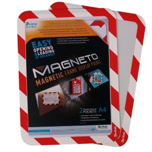 Tarifold cadre magnétique A4 rouge/blanc - pak van 2