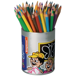 Bruynzeel Mega crayon couleurs assorties 5 mm - le paquet de 48