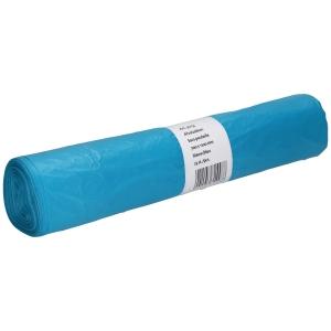 Sac poubelle 20 microns HDPE 70x110cm bleu - rouleau de 25