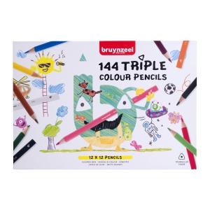 Bruynzeel Triple Grip crayons - le paquet de classe  de 144