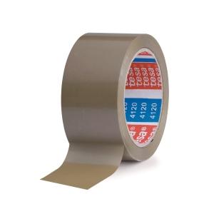 Tesa 4120 ruban d emballage PVC 50 mm x 100 m brun - paquet de 6