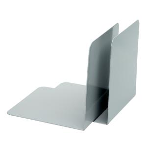 Alco serre-livres 13 x 14 cm gris - paquet de 2